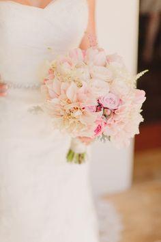 pink bouquet idea http://www.weddingchicks.com/2013/09/26/light-pink-and-gray-wedding/