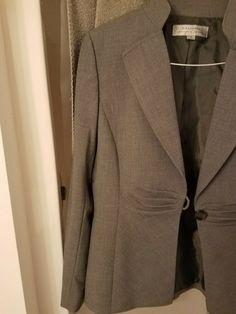 66c90371c39 Tahari Womans Jacket Pant Suit Gray Size 10 Grey  fashion  clothing  shoes