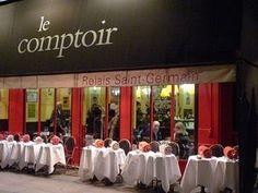 Le Comptoir du Relais  9, carrefour de l'Odéon  75006 Paris  Ouvert tous les jours  Réservation obligatoire (ou alors, c'est pile ou face)    Menu carte à 55 €   01 44 27 07 97