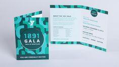 YMCA 1891 gala event invitation design                                                                                                                                                                                 More