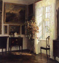 A Sunlit Interior, Carl Vilhelm Holsøe