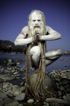 """Naga Baba"" by martin prihoda. Most Shaivite Sadhus have long matted hair in imitation of Lord Shiva of the Himalayas.."