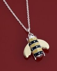 Necklace - BEAUTIFUL BEE - Sterling Silver, Enamel and Gold  Item 1105831863    Oh Honey... what a buzz!    Whether bees tell a special story in your life... or you just think they are gorgeous... you will absolutely love this little fellows.