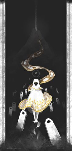 Journey by zetallis on DeviantArt<-- White Cloak~ This looks so epic to me XD