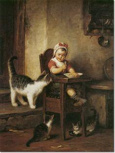 Rudolf Epp (German, 1834 – 1910). with cats