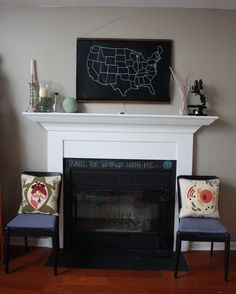 The Chalkboard United States Map