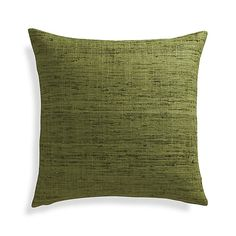 """Trevino Chive Green 20"""" Pillow with Feather-Down Insert 