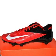 b9af9fd7e92 Nike Vapor Alpha Speed Football Cleats Game Red White Black Men s size 10 D  NIB  Nike