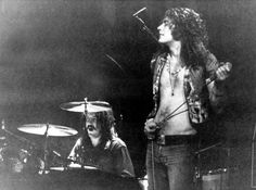 John Bonham and Robert Plant Robert Plant, Great Bands, Cool Bands, Led Zeppelin Concert, John Bonham, Whole Lotta Love, Vintage Rock, Best Rock, Rock Music