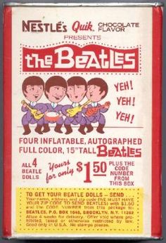 the nestle 8 can which advertised the beatles inflatable dolls