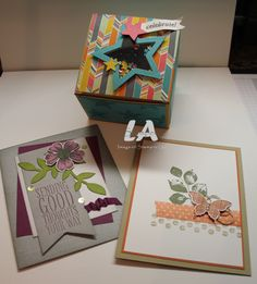 LA Stamper August 2014 Stamp Club projects