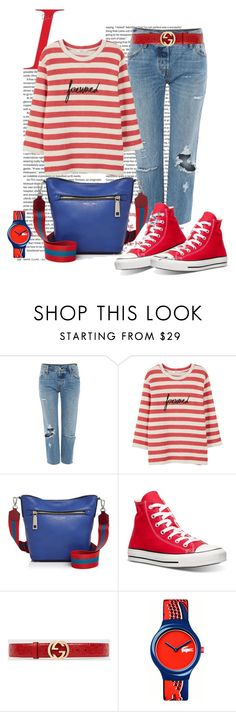 """""""Untitled #3200"""" by julinka111 ❤ liked on Polyvore featuring Levi's, MANGO, Marc Jacobs, Converse, Gucci and Lacoste"""