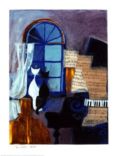 Easy Listening Print by Rosina Wachtmeister