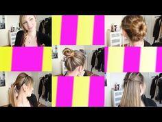 Hairstyle - 5 pettinature FACILI e VELOCI - YouTube