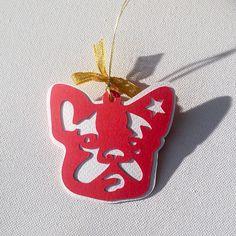 French Bulldog Christmas tree decoration by PSIAKREW on Etsy