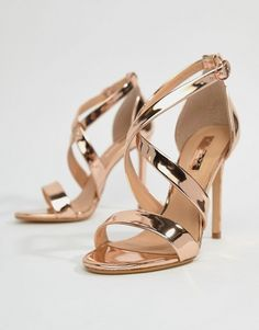 27bc1e98a03 Office Harper Rose Gold Strappy Heeled Sandals