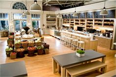 gourmet shop and bakery used in the It's Complicated movie - the ultimate dream Bakery Design, Cafe Design, Restaurant Design, House Design, Bakery Interior Design, Design Design, Restaurant Kitchen, Its Complicated House, Bar A Vin