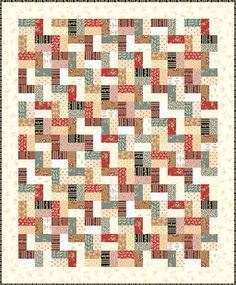 Little House on the Prairie - Logs and Ladders Free Quilt Pattern