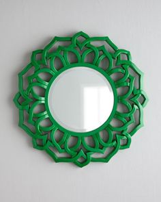 Chinois Mirror at Horchow.$$$ For the bedroom, could paint an old mirror like this color