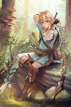 Breath of the Wild Link by ‏@kuponutt on Twitter #nintendo #legendofzelda #fanart