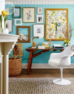 Home Office - Decoração do escritório (local para trabalhar em casa)