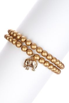 Good Luck Elephant Bracelet Set by Simply Charming: Jewelry Gifts on @HauteLook