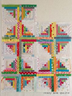 building a log cabin quilt | crazy mom quilts | Bloglovin'
