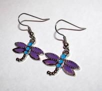 Simplicity Colorful Dragonfly Handmade Earrings FREE SHIP
