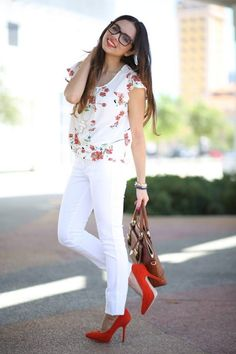 Spring Whites And Florals!