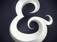 3D ampersand by Dirk Jan Haarsma