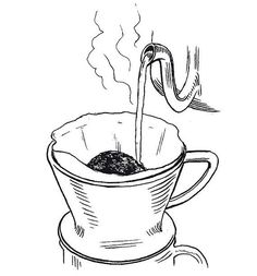 it is easy to make your own pour over coffee at home. Delicious Here's how you can pull off a barista-grade pour-over Coffee Iv, Coffee Doodle, Coffee Plant, Pour Over Coffee, Great Coffee, Coffee Cafe, Kinds Of Beans, Coffee Tattoos, Coffee Illustration