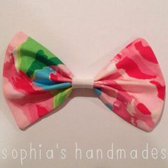 Lilly Pulitzer HAIR BOW // fabric hair bows for women, teens, and kids on Etsy, $6.00