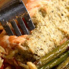 QUE BELEZA. | Este salmão recheado é a opção light desta semana