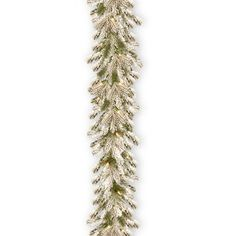 Pre-Lit Feel Real® Snowy Sheffield Spruce Artificial Christmas Garland With 70 Clear Lights By National Tree Company Flocked Garland, Pre Lit Garland, Pine Garland, Light Garland, Garland Ideas, Outdoor Garland, Artificial Garland, White Led Lights, Light Led