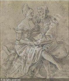 Attribued MANUEL-DEUTSCH Niklaus - Ein Liebespaar 1522