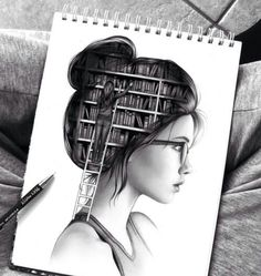 In her head...