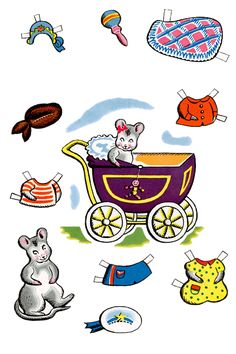 Mrs Mouse and Children Paper Dolls | Purple Kitty ..............   ................................♥...Nims...♥