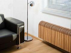 radiateur électrique design imitation bois KNOCKONWOOD par Jaga