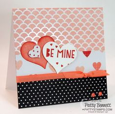 Irresistibly Yours specialty designer paper from Stampin' Up! available during Sale a Bration 2015!  Valentine card by Patty Bennett featuring You Plus Me stamp set and Stacked with Love paper stack. #stampinup