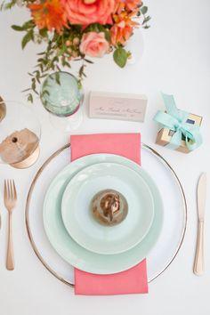 Hues You'll Heart | Aqua, Coral, Peach, Pink and Mint