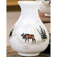 Moose Lodge, Moose Deer, Country Living Decor, Chocolate Moose, Painting The Roses Red, Deer Family, Native American Pottery, Cozy Cabin, Winter House