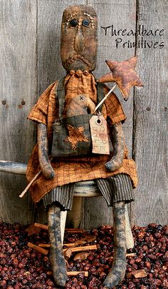 Opal and Everett Primitive Doll by Threadbare Primitives