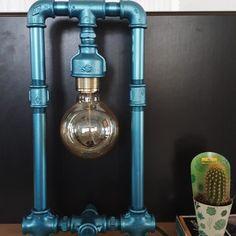 Handcrafted Pipe Lamp in metallic blue #custommadelamp  __________________________  #industriallighting #lighting #industrial #interiordesign #industrialdesign #lightingdesign #lamp #vintage #industriallamp #interior #light #homedecor #industrialstyle #vintageindustrial #commerciallighting #industriallight #lamps #energysavings #design #vintagelighting #vintagelamp #industrialdecor #loft #industrialinterior #lampeindustrielle #bhfyp Studio, Lighting, Home Decor, Homemade Home Decor, Light Fixtures, Studios, Lights, Interior Design, Lightning