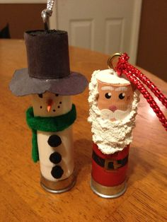 There back!!  Time to start the holiday crafts early!! Santa and Snowman shotgun shell ornaments by AngelBabyConcepts, $10.00