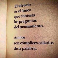 El silencio es el único #Instagram de #proZesa Instagram frases instagram…
