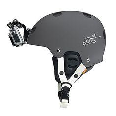 GoPro Placa Frontal Casco - Permite colocar la cámara a bajo perfil en la parte frontal del casco, como un faro. Accesorio GoPro