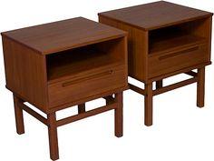 One Kings Lane - Scandinavian Modern - Danish Modern Side Tables, Pair