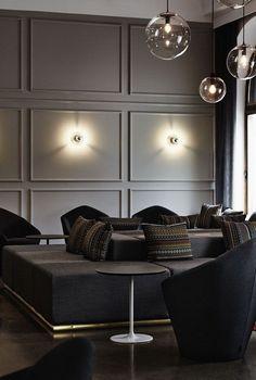 27 Wall Paneling: Interior Ideas Interiorforlife.com Restaurant and Club in Kuopio Finland