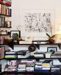 THINKING ABOUT LOW  BOOKSHELVES