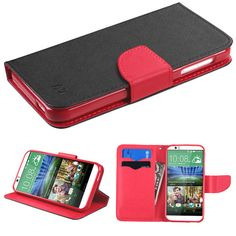 MYBAT HTC Desire 510 Case Fancy Wallet Flip Cover - Black Red. Bőr Pénztárca PirosFeketeTermékek a14f684b01
